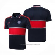 Camiseta Polo del Paris Saint-Germain 20/21 Azul y Rojo